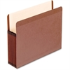 "Pendaflex Premium Reinforced File Pockets - Letter - 8 1/2"" x 11"" Sheet Size - 7"" Expansion - Red Fiber - Red Fiber - Recycled"