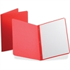 "Oxford Panel & Border Report Covers - 1/2"" Folder Capacity - Letter - 8 1/2"" x 11"" Sheet Size - Leatherette - Red - Recycled - 25 / Box"