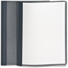 "Oxford Clear Front Report Cover - Letter - 8 1/2"" x 11"" Sheet Size - 100 Sheet Capacity - 3 x Tang Fastener(s) - 1/2"" Fastener Capacity for Folder - Leatherette - Dark Blue, Clear - Recycled"