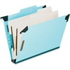 "Pendaflex Hanging Classification Folders - Legal - 8 1/2"" x 14"" Sheet Size - 2"" Expansion - 2 3/4"" Fastener Capacity for Folder - 2 Divider(s) - 25 pt. Folder Thickness - Pressboard - Blue - 1 Each"
