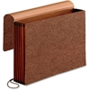 "Pendaflex Premium Reinforced Wallet - 10"" x 15"" Sheet Size - 5 1/4"" Expansion - Red Fiber - Red - 1 Each"