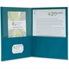 "Pendaflex Oxford 100% Recycled Paper Twin Pocket Folders - Letter - 8 1/2"" x 11"" Sheet Size - 100 Sheet Capacity - 2 Pocket(s) - Blue - 25 / Box"