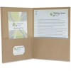 "Pendaflex Oxford 100% Recycled Paper Twin Pocket Folders - Letter - 8 1/2"" x 11"" Sheet Size - 100 Sheet Capacity - 2 Pocket(s) - Fiber - Natural - 25 / Box"