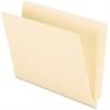 "Pendaflex Straight Cut End Tab File Folder - Letter - 8 1/2"" x 11"" Sheet Size - 3/4"" Expansion - 11 pt. Folder Thickness - Manila - 100 / Box"