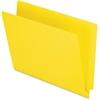 "Pendaflex End Tab File Folder - Letter - 8 1/2"" x 11"" Sheet Size - 3/4"" Expansion - 11 pt. Folder Thickness - Yellow - 100 / Box"