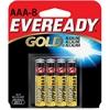 Eveready Multipurpose Battery - AAA - Alkaline - 1.5 V DC - 8 / Pack