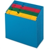 "Pendaflex QuickVue Project File - 11"" x 12"" Sheet Size - 12 Pocket(s) - Paper - Blue - 1 Each"