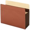 "Pendaflex Extra Wide Accordion File Pocket - Letter - 8 1/2"" x 11"" Sheet Size - 5 1/4"" Expansion - 24 pt. Folder Thickness - Tyvek - Brown - 10 / Box"