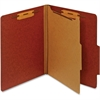 "Pendaflex Letter Classification Folder With Divider - Letter - 8 1/2"" x 11"" Sheet Size - 1"" Fastener Capacity for Folder - 1 Divider(s) - 25 pt. Folder Thickness - Pressboard - Red - 1 Each"