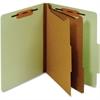 "Pendaflex Letter Classification Folder With Divider - Letter - 8 1/2"" x 11"" Sheet Size - 1"" Fastener Capacity for Folder - 2 Divider(s) - 25 pt. Folder Thickness - Pressboard - Green - 1 Each"