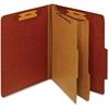 "Pendaflex Classification Folder With Divider - Letter - 8 1/2"" x 11"" Sheet Size - 1"" Fastener Capacity for Folder - 2 Divider(s) - 25 pt. Folder Thickness - Pressboard - Red - 1 Each"