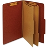 "Pendaflex Legal Classification Folders With Divider - Legal - 8 1/2"" x 14"" Sheet Size - 1"" Fastener Capacity for Folder - 2 Divider(s) - 25 pt. Folder Thickness - Pressboard - Red - 1 Each"