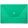 "Lion Hook and Loop Closure Poly Envelopes - A4 - 8 17/64"" x 11 11/16"" Sheet Size - Poly - Green - Recycled - 1 Each"