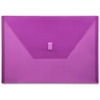 """Lion Hook and Loop Closure Poly Envelopes - A4 - 8 17/64"""" x 11 11/16"""" Sheet Size - Poly - Purple - Recycled - 1 Each"""