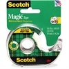 "Scotch Magic Tape in a Handheld Dispenser - 0.75"" Width x 54.17 ft Length - 1"" Core - Permanent Adhesive Backing - Photo-safe, Non-yellowing, Writable Surface - Dispenser Included - Clear Handheld Dis"