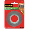 "Scotch Permanent Outdoor Mounting Tape - 1"" Width x 5 ft Length - 1"" Core - Adhesive Backing - Double-sided, Permanent Mounting - 1 Roll - Gray"