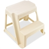 "Rubbermaid Two-Step Stool - 2 Step - 300 lb Load Capacity - 18.5"" x 18.3"" x 16"" - Bisque"