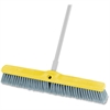 "Fine Floor Sweep 24"" Foam Block - 1 Each - Polypropylene Bristle, Plastic Block, Foam Block - Gray"