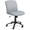 "Safco Big & Tall Executive Mid-Back Chair - Foam Gray, Polyester Seat - Black Frame - 5-star Base - 22.25"" Seat Width x 20.75"" Seat Depth"