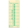 "TOPS Named Days Weekly Time Card - 9"" x 3.50"" Sheet Size - Manila Sheet(s) - Green Print Color - 100 / Pack"