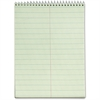 "TOPS Steno Book - 60 Sheets - Printed - Wire Bound - 6"" x 9"" - Green Paper - Hardboard Cover - 12 / Pack"