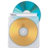Double-Sided CD/DVD Sleeves - 50 pack - Plastic - Clear - 2 CD/DVD