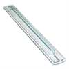 "Westcott 12"" Finger Grip Plastic Ruler - 12"" Length 1"" Width - 1/16 Graduations - Imperial, Metric Measuring System - Plastic - 1 Each - Smoke"