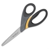 "Westcott Titanium Ultra Smooth Scissors - 3.50"" Cutting Length - 8"" Overall Length - Pointed - Straight-left/right - Rubber - Gray"