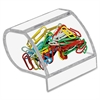 Kantek Acrylic Paperclip Holder - 1 Each - Clear