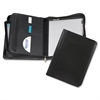 "Samsill Regal Zipper Pad Holder - Letter - 8 1/2"" x 11"" Sheet Size - Internal Pocket(s) - Leather - Black - 1 Each"