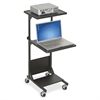 "Balt Projector Stand - 3 x Shelf(ves) - 47.5"" Height x 18"" Width x 20"" Depth - Powder Coated - Steel - Black"