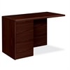 "HON 10700 Series File/File Left Return - 48"" x 24"" x 29.5"" - Waterfall Edge - Material: Wood - Finish: Laminate, Mahogany"