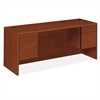"HON 10700 Series Kneespace Credenza - 72"" x 24"" x 29.5"" - 4 - Double Pedestal - Waterfall Edge - Material: Wood - Finish: Cherry, Henna Cherry, Laminate"