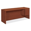 "HON 10700 Series Single Right Pedestal Credenza - 72"" x 24"" x 29.5"" - 2 - Single Pedestal on Right Side - Waterfall Edge - Material: Wood - Finish: Cherry, Henna Cherry, Laminate"