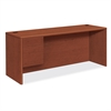 "HON 10700 Series Single Left Pedestal Credenza - 72"" x 24"" x 29.5"" - 2 - Single Pedestal on Left Side - Waterfall Edge - Material: Wood - Finish: Cherry, Henna Cherry, Laminate"