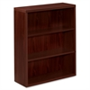 "Valido 11500 Series Bookcase - 36"" x 13.1"" x 43.6"" - 3 Shelve(s) - Ribbon Edge - Material: Particleboard - Finish: Mahogany"
