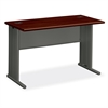 "StationMaster 66000 Series Desk - 48"" x 24"" x 29.5"" - Radius Edge - Material: Metal - Finish: Charcoal, Laminate, Mahogany"