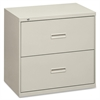 "HON 400 Series Lateral File With Lock - 30"" x 19.3"" x 28.4"" - 2 x Drawer(s) for File - Legal, Letter - Lateral - Interlocking, Ball-bearing Suspension, Leveling Glide - Light Gray - Steel"
