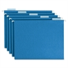 "Smead Colored Hanging Folders with Tabs - Legal - 8 1/2"" x 14"" Sheet Size - 1/5 Tab Cut - Blue - Recycled - 25 / Box"
