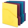 "Smead Project Jacket - Letter - 8 1/2"" x 11"" Sheet Size - 2/5 Tab Cut - 11 pt. Folder Thickness - Purple, Yellow, Maroon, Teal, Dark Blue - Recycled - 10 / Pack"