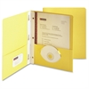 "Smead Two-Pocket Folders with Tang Strip Style Fastener - 1/2"" Folder Capacity - 9 3/4"" x 11 1/2"" Sheet Size - 3 Fastener(s) - 2 Internal Pocket(s) - Yellow - Recycled - 25 / Box"