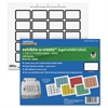 "Exhibit-U-Create Label - 1.62"" Width x 1"" Length - 20 / Sheet - Laser - White - 240 / Pack"