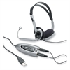 Multimedia USB Stereo Headset - Stereo - Black, Silver - Mini-phone - Wired - Over-the-head - Binaural - 6.23 ft Cable