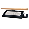 "Compucessory Keyboard Tray with Articulating Arm - 2.2"" Height x 22.5"" Width x 11.8"" Depth - Putty"