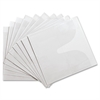 Compucessory Self-Adhesive Poly CD/DVD Holders - 1 x CD/DVD Capacity - White - Polypropylene - 10 / Pack