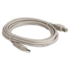 Compucessory A-B USB Cable - USB - 10 ft - 1 Pack - 1 x Type A Male USB - 1 x Type B Male USB - Gray