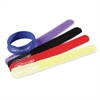Compucessory Hook and Loop Cable Tie - Cable Tie - Assorted - 10 Pack