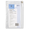 "Hole Punched Ring Binder Pockets - 6"" x 9.50"" Sheet - Ring Binder - Clear - Vinyl - 1 Each"