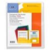 "Sparco Transparent Portfolio - Letter - 8 1/2"" x 11"" Sheet Size - 60 Sheet Capacity - 2 Pocket(s) - Clear - 5 / Pack"