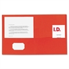 "Double Pocket Portfolio - Letter - 8 1/2"" x 11"" Sheet Size - 125 Sheet Capacity - 2 Inside Front & Back Pocket(s) - Paper - Red - Recycled - 25 / Box"
